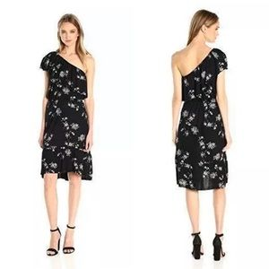 Lucky Brand Floral One Shoulder Dress NWT M L